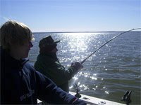 Fishing for Striped Bass on Lake Buchanan.